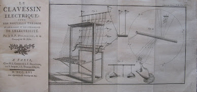 "拉伯德的书这样描绘这台大键琴:""电子大键琴;使用了崭新的机械理论和电学现象""(Le Clavessin électrique; avec une nouvelle théorie du mécanisme et des phénomènes de l'électricité)"