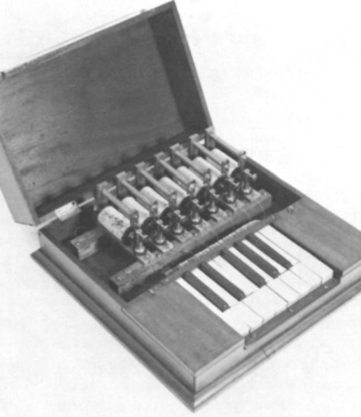 单八度版的电传琴发信器,制造于1874年夏天