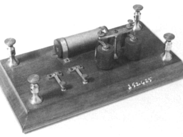 """""""二音""""(Two-Tone)发信器,1874年"""