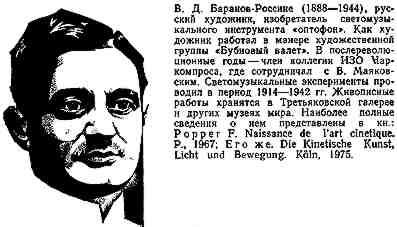 弗拉基米尔·达维多维奇·巴拉诺夫 - 罗西尼(Vladimir Baranoff Rossiné),1888年出生于俄罗斯乌克兰赫尔松(Kherson),1944年去世于法国巴黎