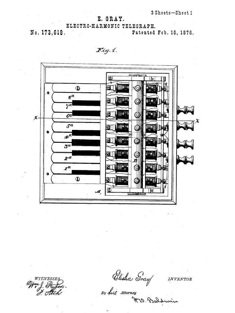 格雷的发明——歌弧琴——的专利