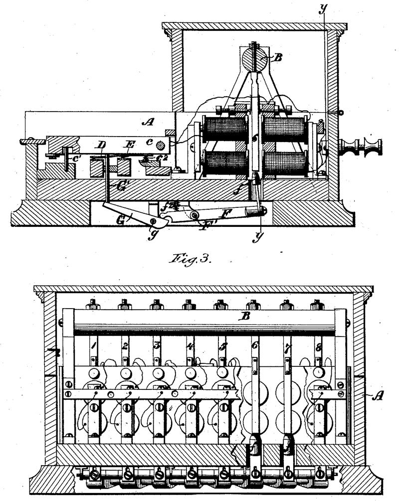 格雷电谐声电报机专利,1876年