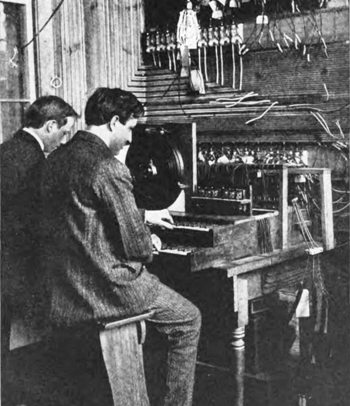 电传簧风琴MkII的演奏者