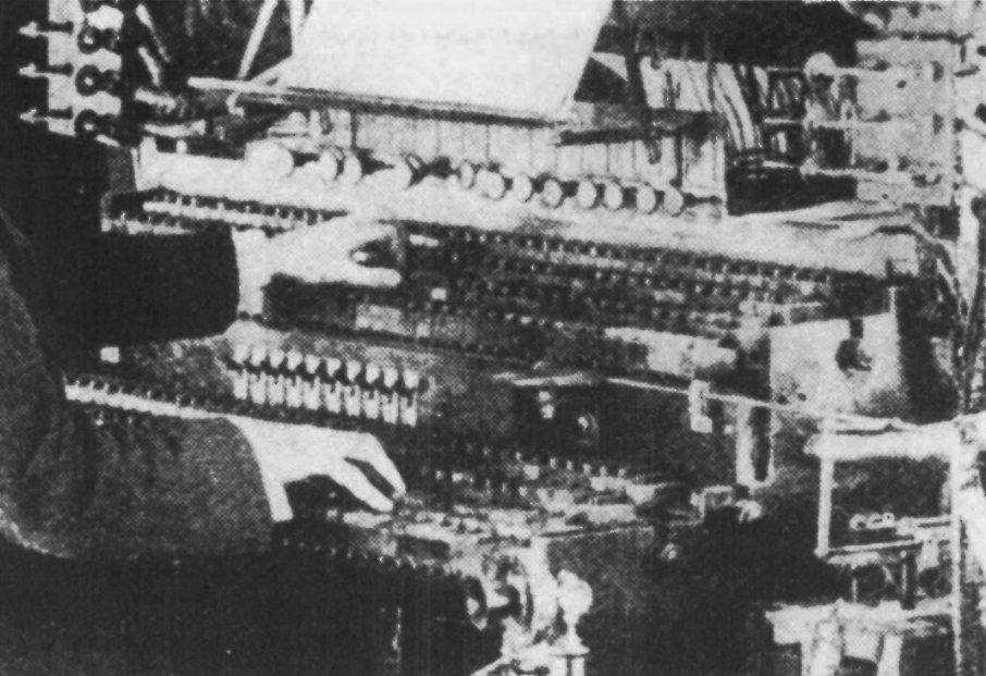 双排键版本的电传簧风琴MkII,《甘特杂志》,1907年
