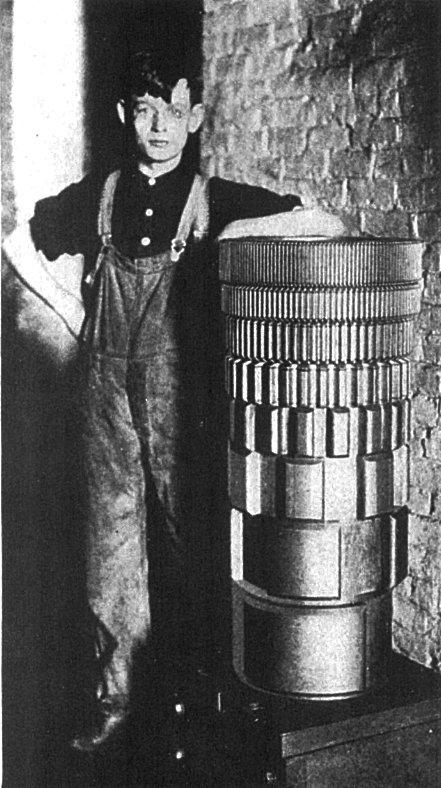 单个的音轮制音器,带有八个起电器