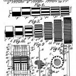 卡希尔在1897年为第一台电传簧风琴所申请的专利,展示了转子发电装机和变阻器电刷(rheostat brushes)。