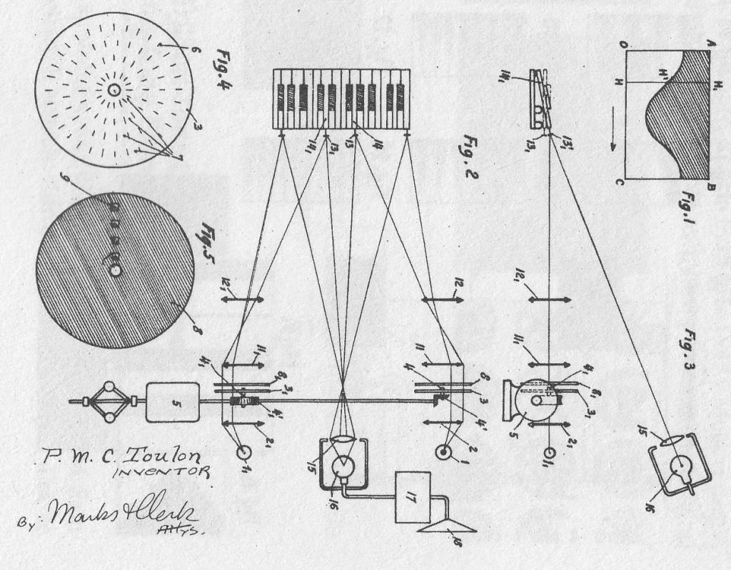皮埃尔·土伦的光电池琴专利