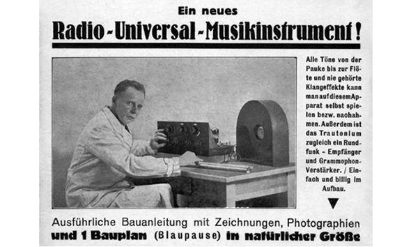 得律风根为30年代版本特劳特温电子琴打的广告