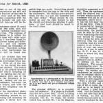 根斯巴克《实用电子》1924年3月号刊登的断音琴文章