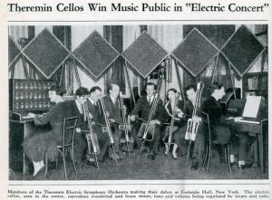 卡内基音乐厅(Carnegie Hall)的泰勒明乐团,1930年代