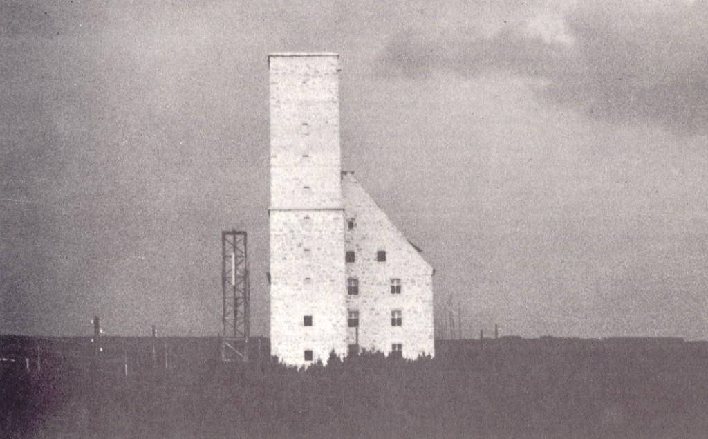 1934年同盟军轰炸后威尔林实验室仅存的建筑