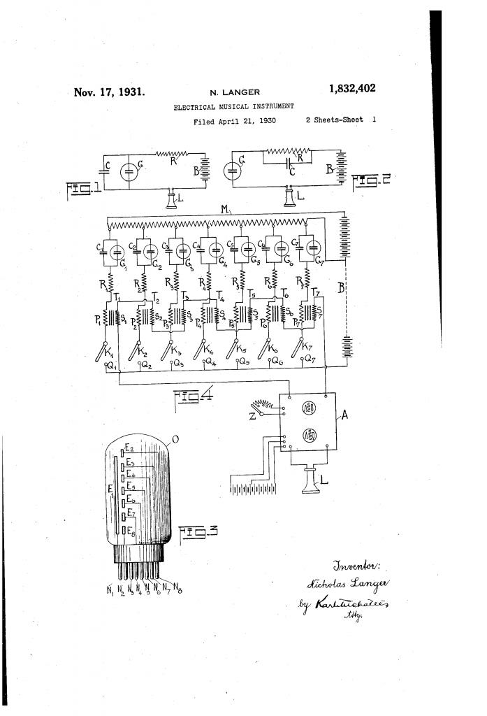 艾米肯电子琴专利文档