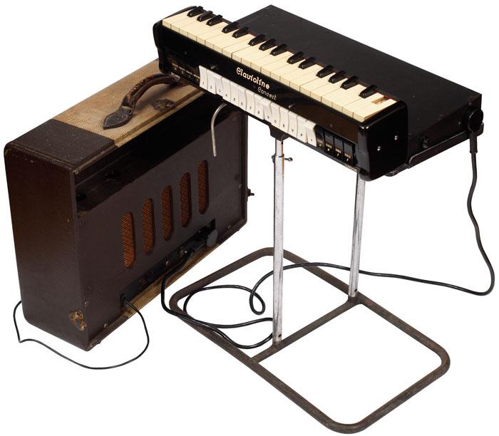 塞尔莫产电子钢片琴,配有支架、放大器扬声器箱