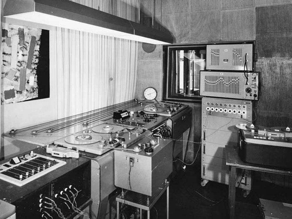 WDR电子音乐工作室,摄于1966年
