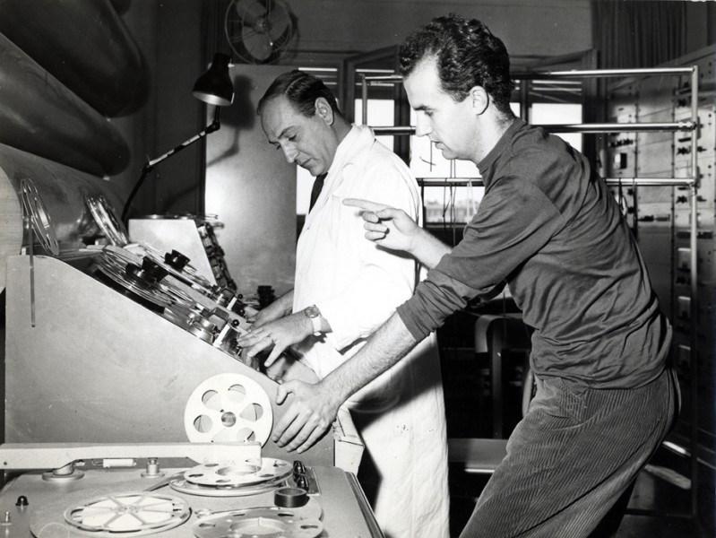 马里诺·祖克利和路易吉·诺诺。图:路易吉·诺诺档案馆基金会(Fondazione Archivio LN)