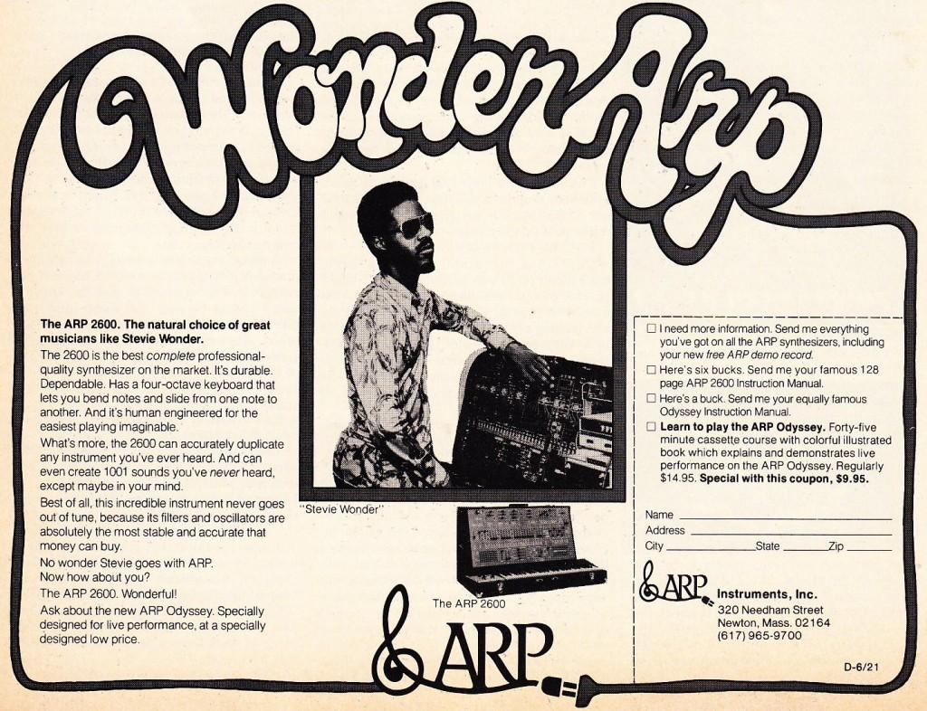 史提夫·汪达为 ARP 2600 代言