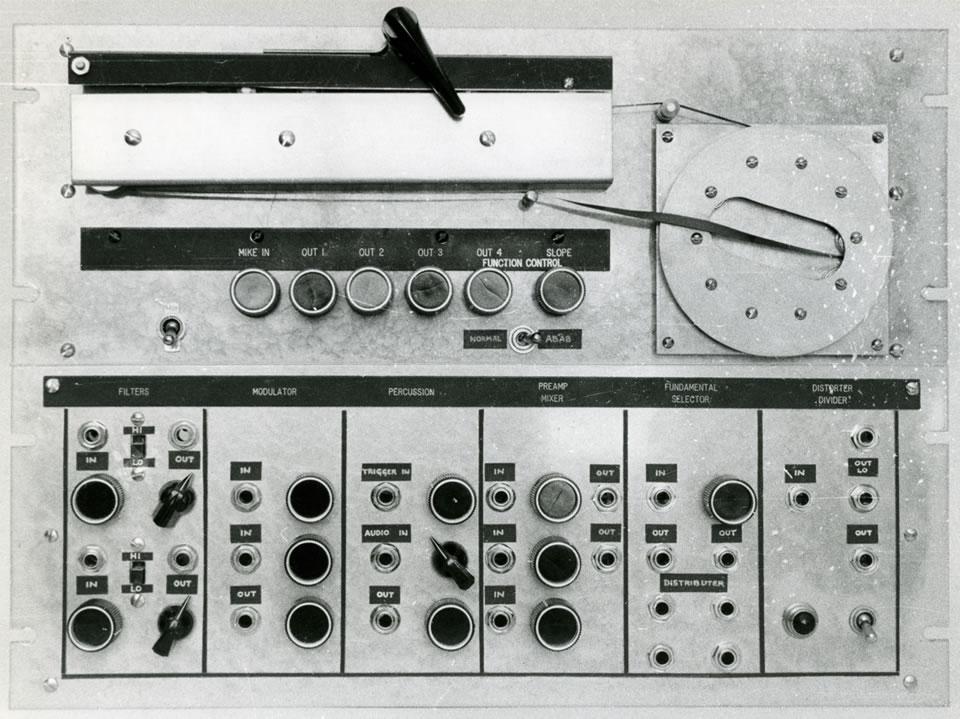 音频系统合成器前面板