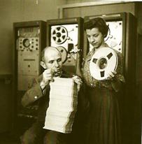 马克思·马修斯和琼·米勒在贝尔实验室