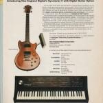 1984年的键盘合成器广告中出现了吉他控制器