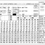 键盘合成器音序器编辑界面