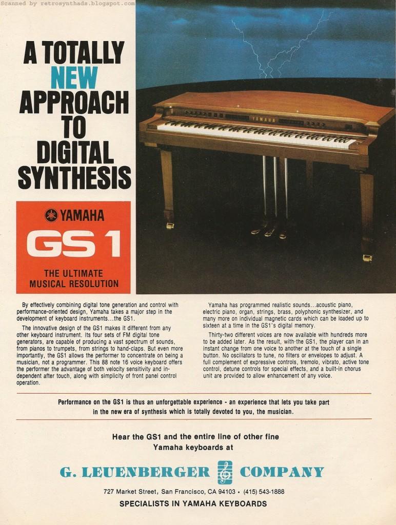 YAMAHA GS1 广告,1981年