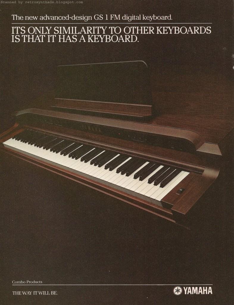 YAMAHA GS1 广告,1982年