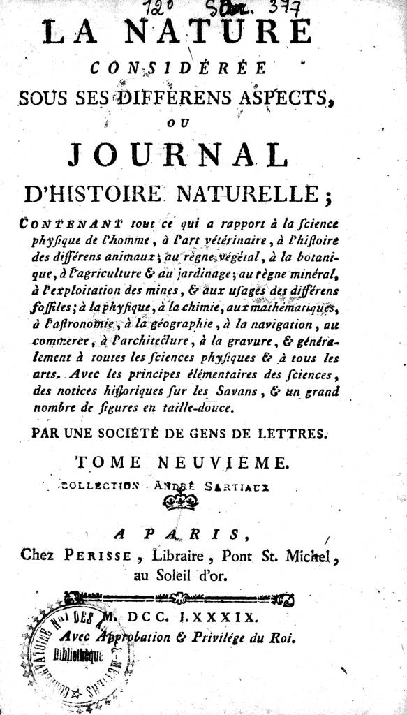 1789年出版于巴黎《电子大键琴》,首页,M.拉贝·波索隆
