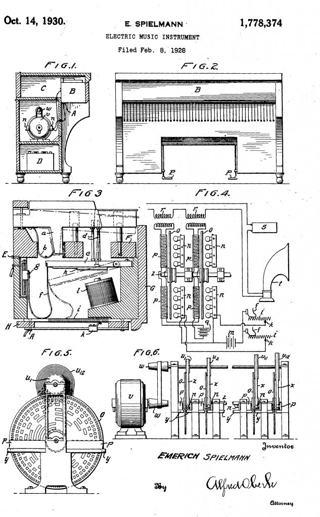 1928年施皮尔曼为光电音源装置申请的专利