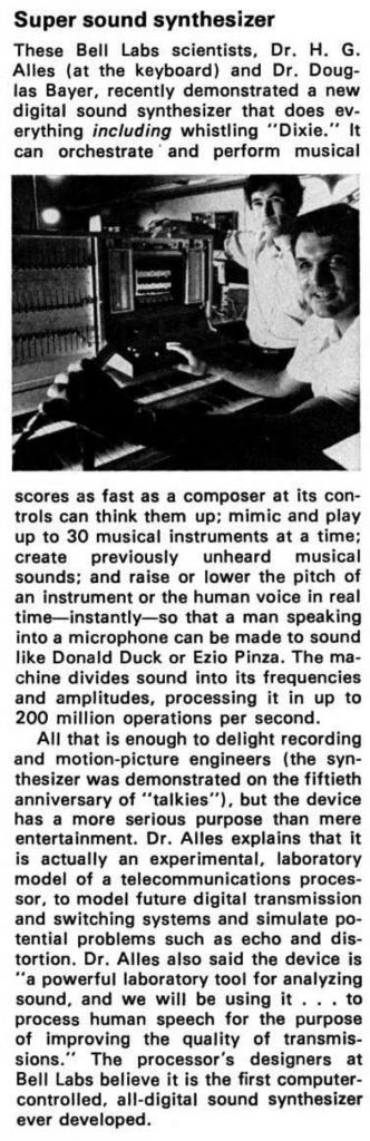 图:美国《大众科学》杂志(Popular Science),1978年1月